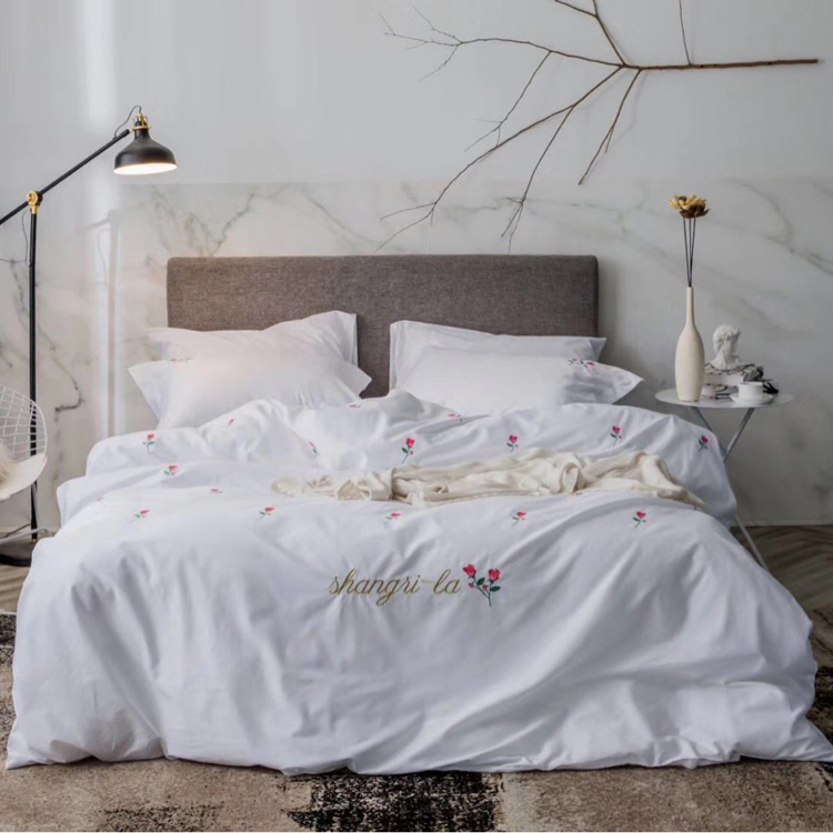 Plant Embroidered Bed Linen